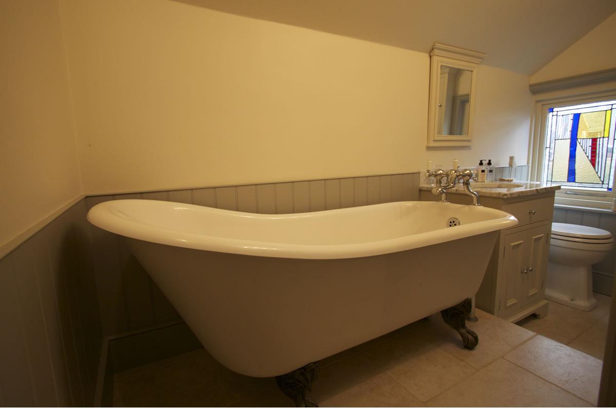 Roll top slipper bath. Bathroom Installation