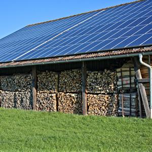 Solar Wood Store on Farm