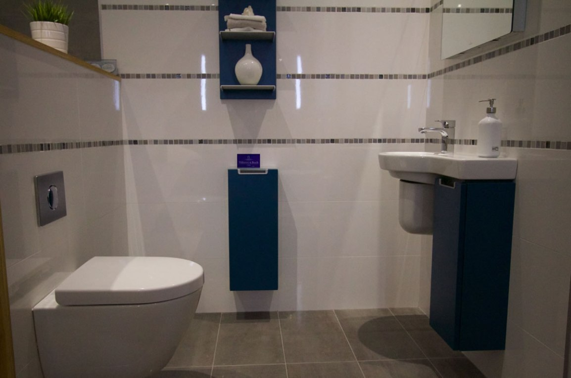 Small Bathroom with Mosaic tiles