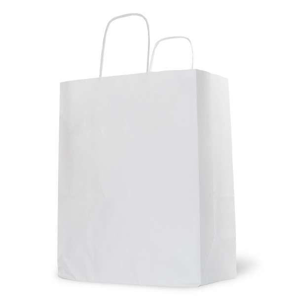 Natural White Paper Carrier Bag - Barry Packaging