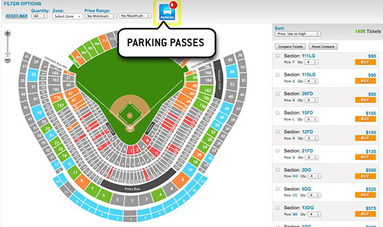 Dodger Stadium Detailed Seating Chart With Seat Numbers ...