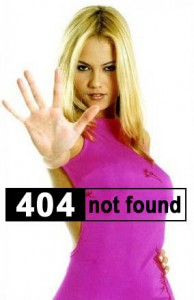 Sexy Girl Motioning Stop, Page Not Found 404