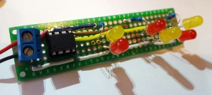 ATTiny85 Flickering Flame circuit Top View
