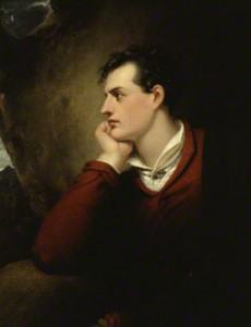 Lord Byron by Richard Westall, oil on canvas, 1813. National Portrait Gallery