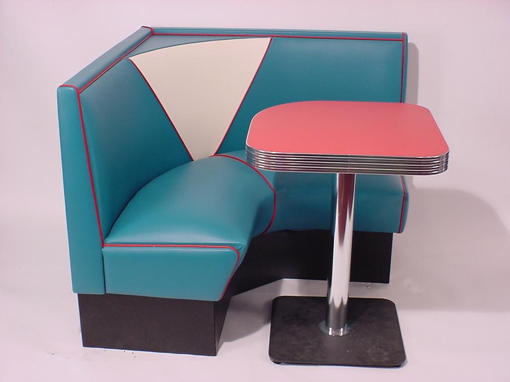 Half Circle Booths Restaurant Diner Retro 1950s Kitchen
