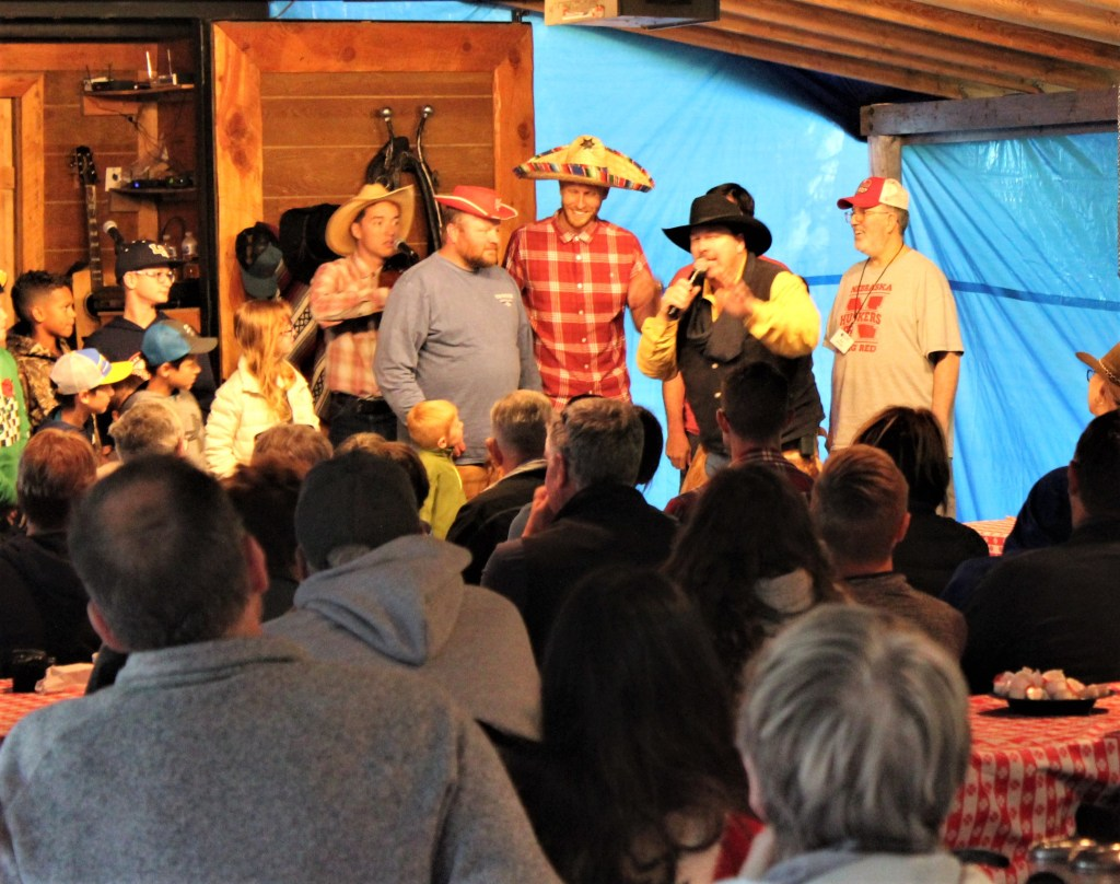 Some of our guests end up on stage in an interactive performance at the Bar T 5 chuck wagon dinner.