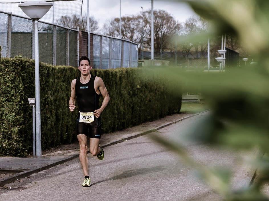 Hardlooponderdeel zwemloop Eindhoven Op Noord Bart Cooymans