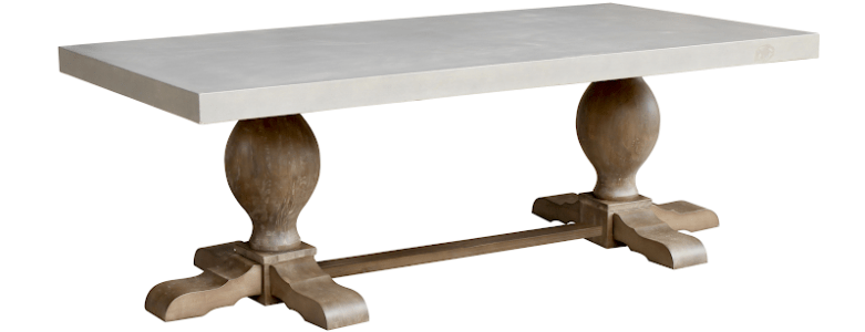 Classic Rustic - Belarus Rectangle Concrete Dining Room Table