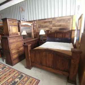 Dark Stain Bedroom Set