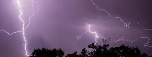 Blitz über Stuttgart
