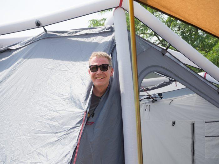 Zufriedener Camper