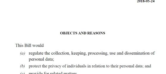 Barbados data protection Bill 2018