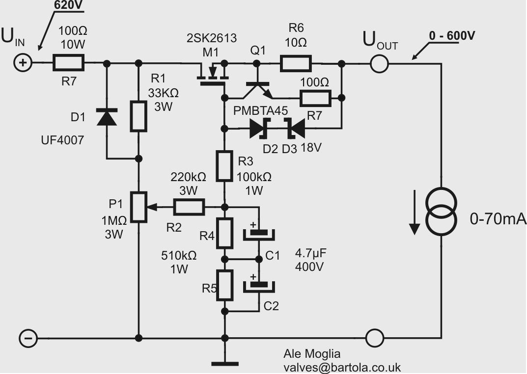 New Ht Bench Supply Bartola Valves Power Output Voltage Regulator By A Gyrator Circuit R2