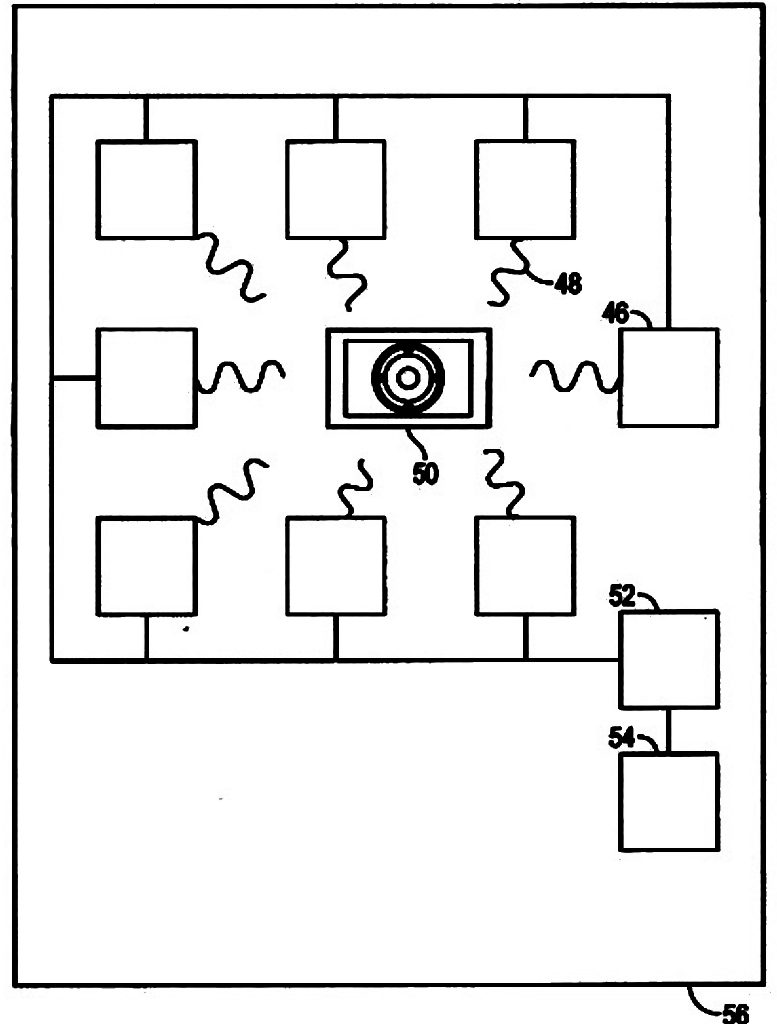 FIG. 4, an implementation of a power generator with a plurality of resonant frequency generators enclosed within a Faraday cage is illustrated.