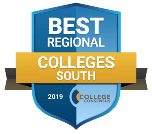 College Consensus Best Regional Colleges South badge