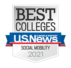 US NEWS Social Mobility badge