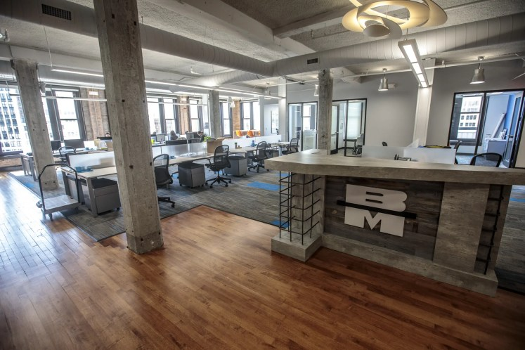 Barton Malow Detroit, Michigan office interior