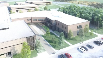 OCC Science Building Aerial Rendering