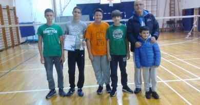 1. mjesto na Županijskom prvenstvu u badmintonu