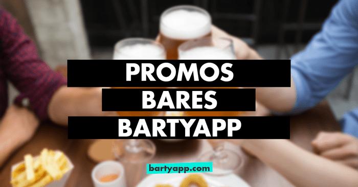promociones en bares y restaurantes barty