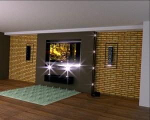 ścianka telewizyjna klinkier
