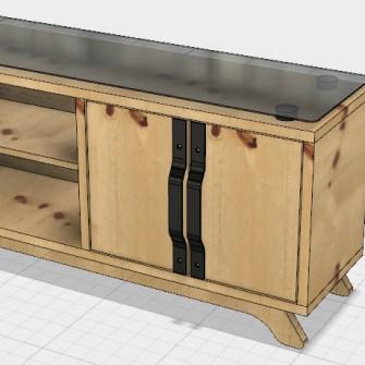 projekt drewnianej szafki retro