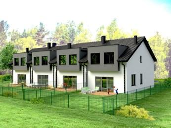 wizualizacja domu jednorodzinnego w zabudowie szeregowej