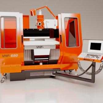 model i wizualizacja modelu maszyny przemysłowej, frezarka zamknięta