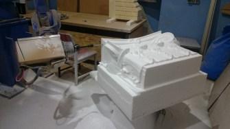 frezowana głowica pilaster