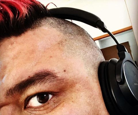 Stalking myself, because someone has to do it… I guess? 😆 #Mohawk #redhair
