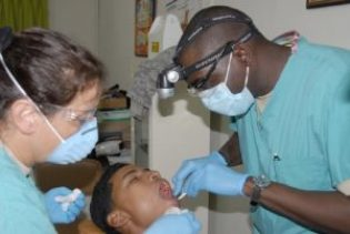 dentist with man