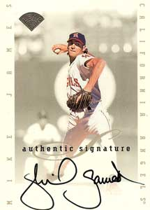 Mike James Autograph on a 1996 Leaf Signature Series (Silver)