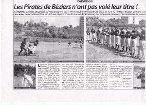 Article du Midi Libre Finale N2