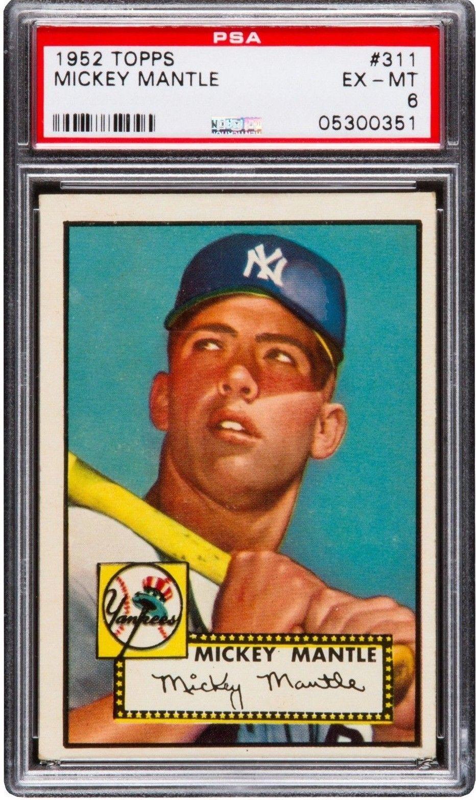Mickey Mantle 1951 BOWAN//1952 Topps Rookie Card Reprint 5 Card LOT!