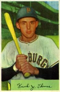 Frank Thomas 1954 Bowman
