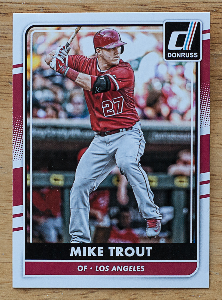 Mike Trout Donruss Baseball Card