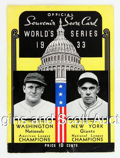 Let's Revisit the 1933 World Series
