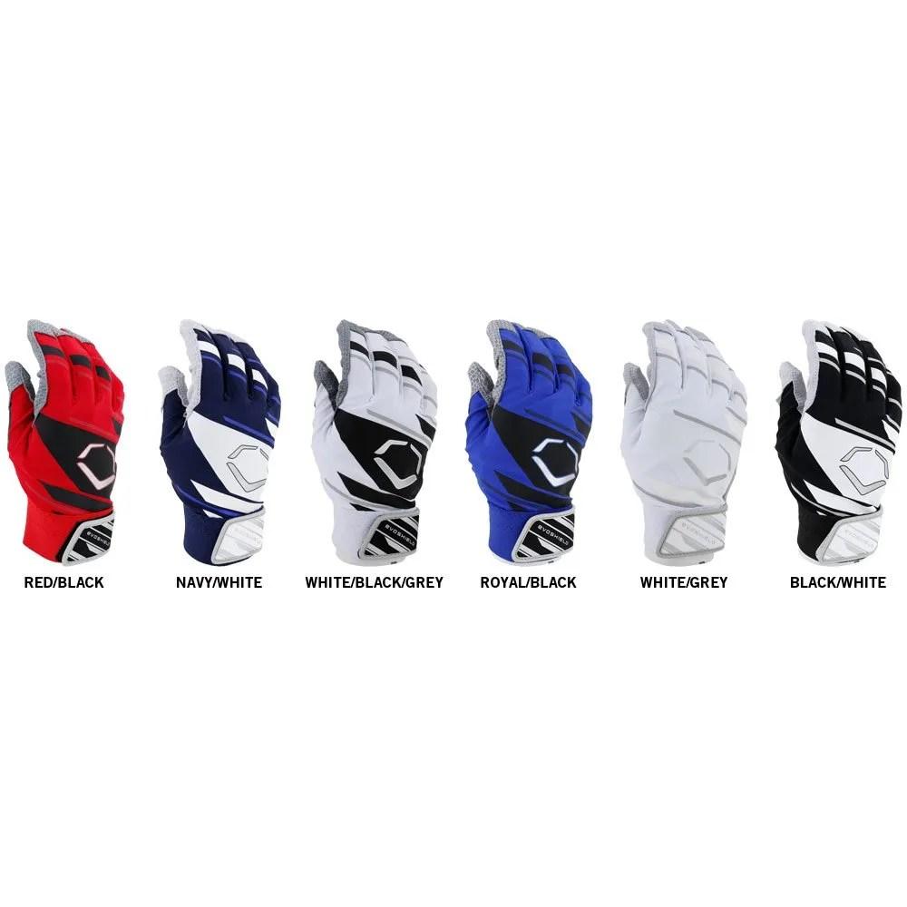 Evoshield Batting Gloves Size Chart