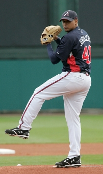 Jair Jurjjens is having a solid season with a 3-2 record and 2.01 ERA.