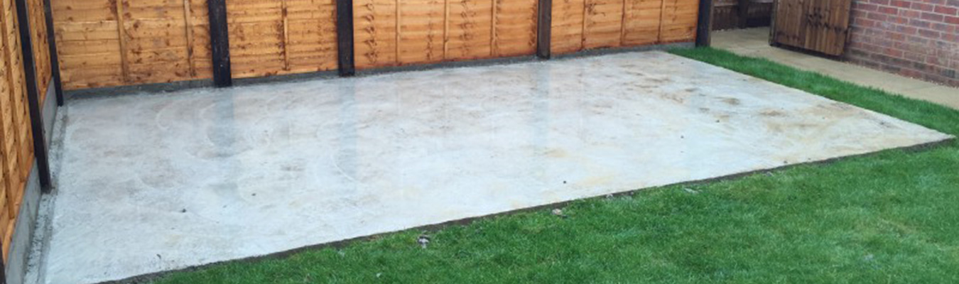 use concrete for your patio