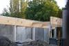 Powstaje dach nad pomieszczeniem z saunami