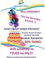 Urodzinowa promocja w Aquaparku