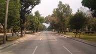 Broad lanes in Zona 10, without any car due to Semana Santa