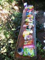 8 dagen eten voor onze tocht in Parque Puyehue