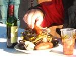 Specialiteit van Chiloe, Curanto, vlees, vis en aardappelen