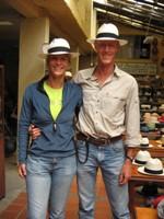 Bas and Eelco with Panama Hats