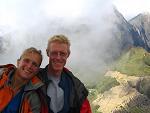 Bas en Eelco, met zicht op Machu Picchu