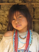 Kogi indianen meisje