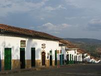 Huizenrij in Barichara