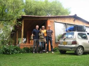 @@@@@2008 Pan-Col 1092 - Laatste foto, Sander, Mapis, Bas, Eelco en de Twingo